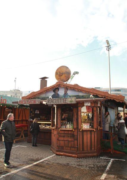 Kerstmarkt zonder sfeer